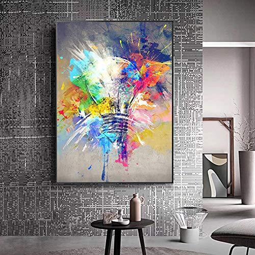 Puzzle 1000 Piezas Bombilla de luz Graffiti Arte Pintura Pintura Cuadro Abstracto de la Calle Puzzle 1000 Piezas educa Juego de Habilidad para Toda la Familia, Colorido juego50x75cm(20x30inch)