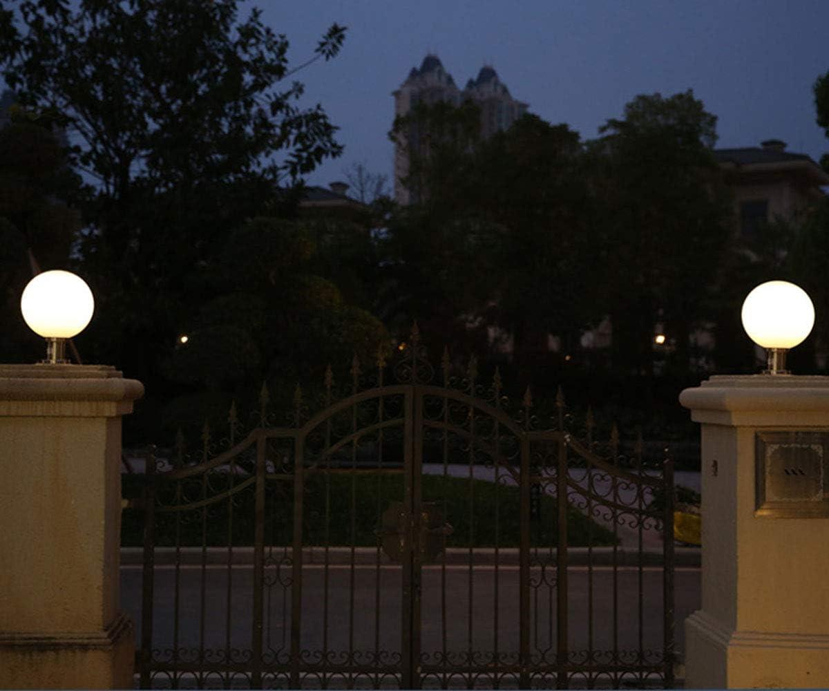 Modern Wegeleuchten E27 Schwarz Gartenlampe Außen-Lampe Weiß Runde Ball Sockelleuchte Landschaftslampe Wasserdicht IP44 Säulelampe Kunststoff Acryl Säulenleuchte Sockellampen φ30CM Silber A Φ40cm
