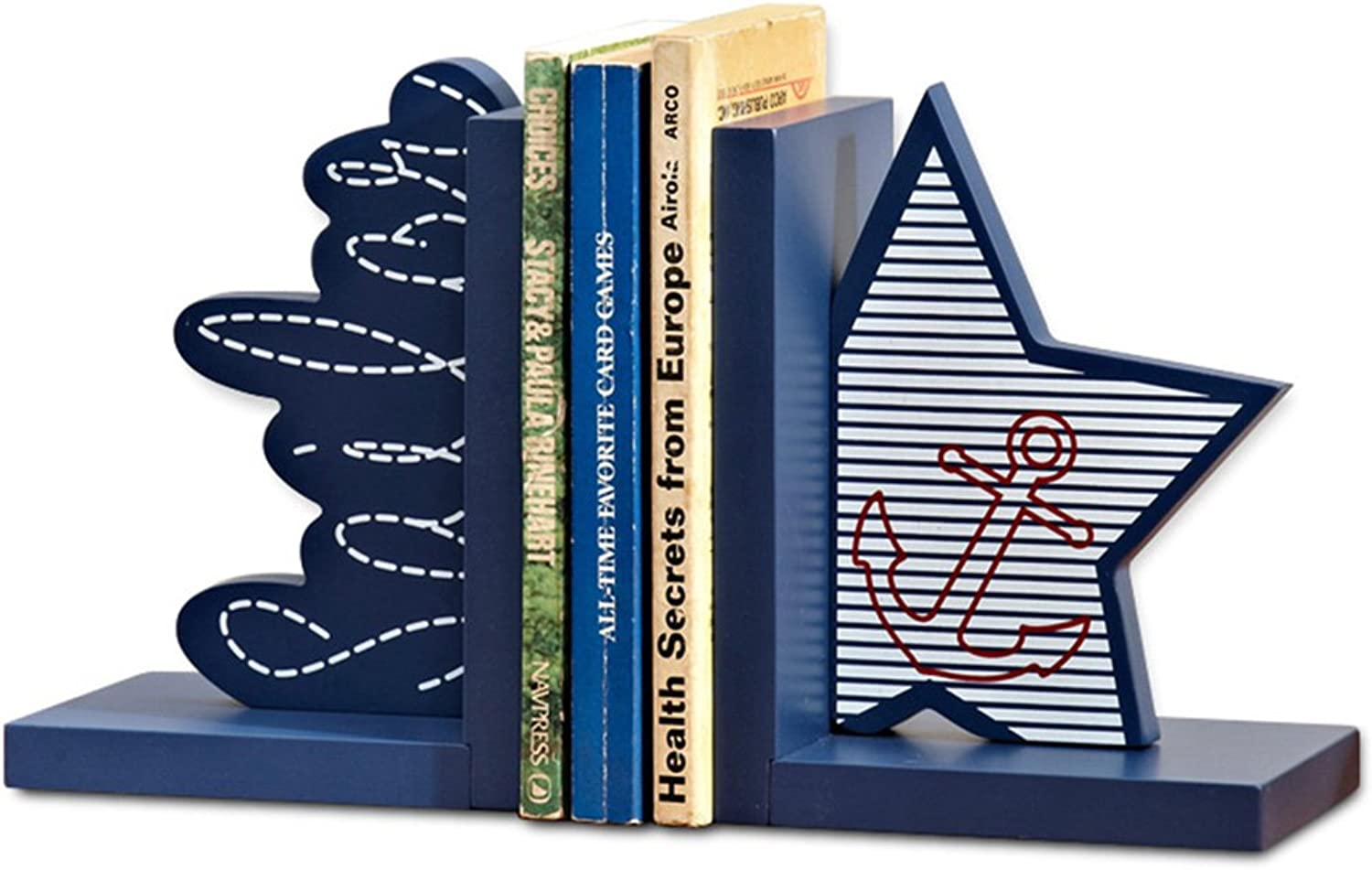 Bookends Book Clips Boys and Girls Bookends Gifts Study Decorations Desk Personality Creative Bookshelf (color   bluee)