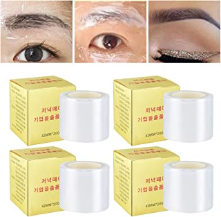 Ownest 4 PCS Disposable Eyebrow Tattoo Plastic Wrap Preservative Film, Professional Eyebrow Lips Permanent Make Up Supplies Wrap Cover Tape Roll