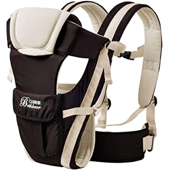 Xpork Baby Carrier with Hip Seat Stool Adjustable Wrap Sling Backpack Newborn to Toddler for Both Mom Dad Grey