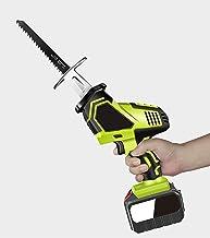 Mini sierra eléctrica de 18 V, sierra eléctrica de litio de mano infinitamente variable, hoja de sierra para metales, sierra eléctrica recíproca portátil inalámbrica. green,D