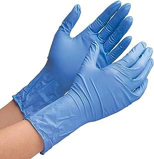 ミドリ安全 ニトリル手袋 ベルテ700R 厚手タイプ 粉なし ブルー L (100枚入)