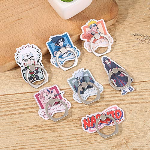 7 Pack Phone Ring Holder Finger for Naruto Universal 360° Rotation Metal Ring Grip Compatible with All Smartphone