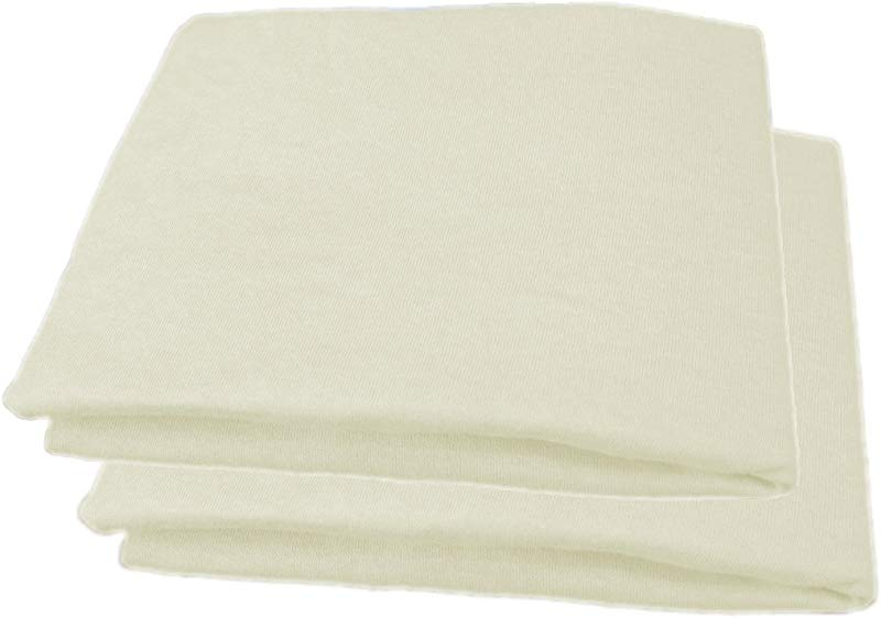 Fitted Mattress Bassinet Sheet Jersey Knit 30 X 16 2 Pack Cream
