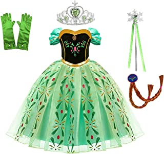 HALAMODO Girl Princess Dress Costume Masquerade Birthday Halloween Theme Party Performance Dress Up Dress with Accessories