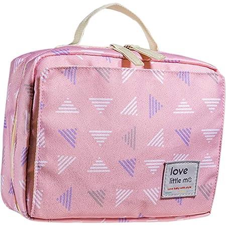 HOYOFO ポーチ おむつポーチ オムツ入れ ベビー用品収納 ベビー おむつ バッグ 小物入れ 赤ちゃん かわいい 旅行用ポーチ ピンク 出産祝い プレゼント