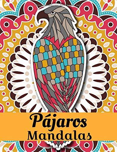 Pájaros Mandalas: Libro para colorear para adultos y adolescentes | Mandala | Antiestrés, relajación | Gran formato, 21,6x28 cm.