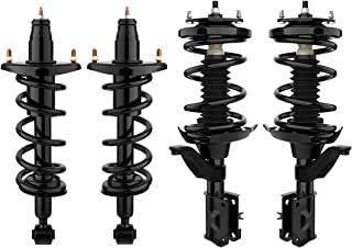 AUTOSAVER88 Complete Struts for 2001-2005 Honda Civic,Front & Rear Shock absorber 4 pcs