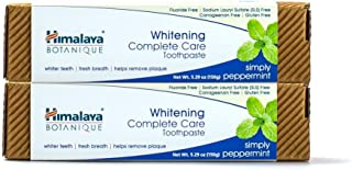 Himalaya Whitening Toothpaste - Simply Peppermint 5.29 oz/150 gm (2 Pack), Natural, Fluoride-Free & SLS Free