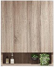 خزانة جدار مرحاض خزانة حمام خشب صلب سعة كبيرة خزانة تخزين العقاقير متعددة الطبقات (اللون: بني، الحجم: 25 * 38 * 140 سم)