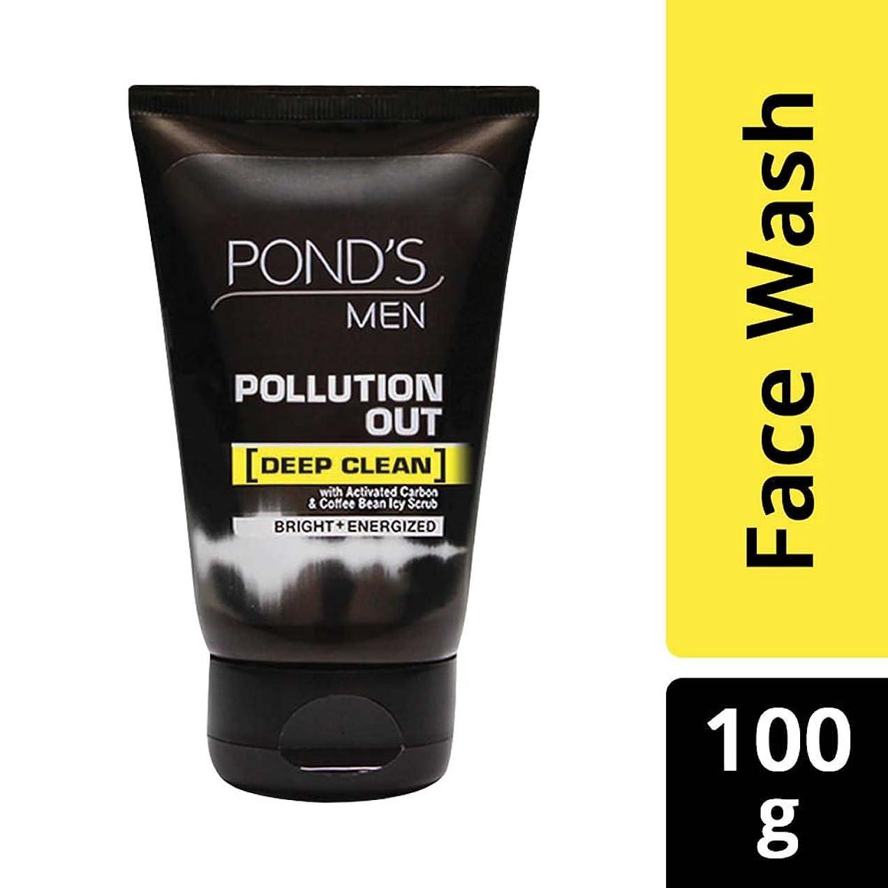 黒くする蜜カートPond's Men Pollution Out Face Wash, Feel Fresh 100gm