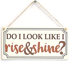 in the Ivy Do I Look Like I Rise & Shine Funny Morning Person Sign Funny Wooden Sign Home Decor Wall Hanging Plaque