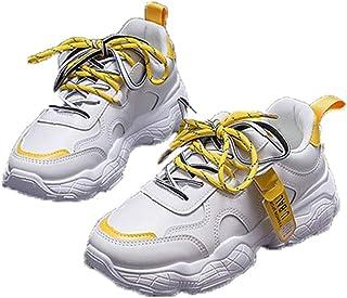 Lady Chunky Shoes Gemengde kleuren Lage zomer Herfst Mesh Sportschoenen Platform Ademende veterschoenen voor wandelen