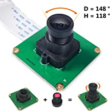 Admite Video de hasta 90 Fps en VGA Mini Camera Video Module Pixel hasta 2592 * 1944 para Omni OV5647 Color CMOS QSXGA 5 Megap/íxeles Raspberry Pi Camera Module 3 Modelo B // 3//2 // B