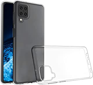 NEW'C Hoesje voor Samsung Galaxy A12, siliconen TPU transparant - HD Crystal Clear