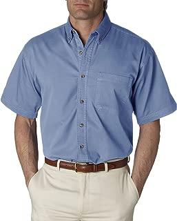 8965 Mens Short-Sleeve Denim Shirt