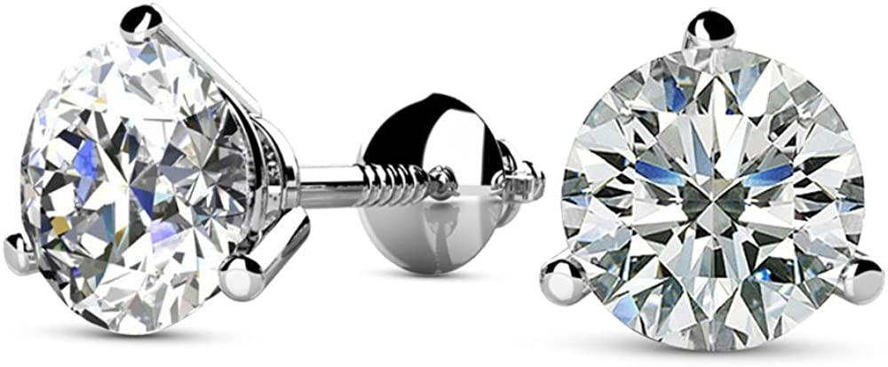Natural Round Brilliant Solitaire Diamond Wome Max 79% OFF Selling for Earrings Stud