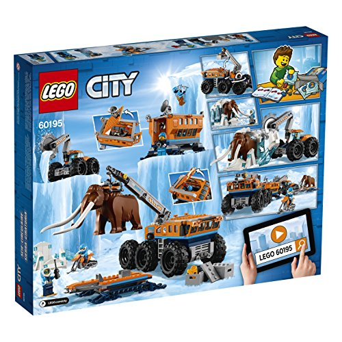 LEGO City Arctic Mobile Exploration Base 60195 Building Kit, Snowmobile Toy and Rescue Game (786 Pieces)