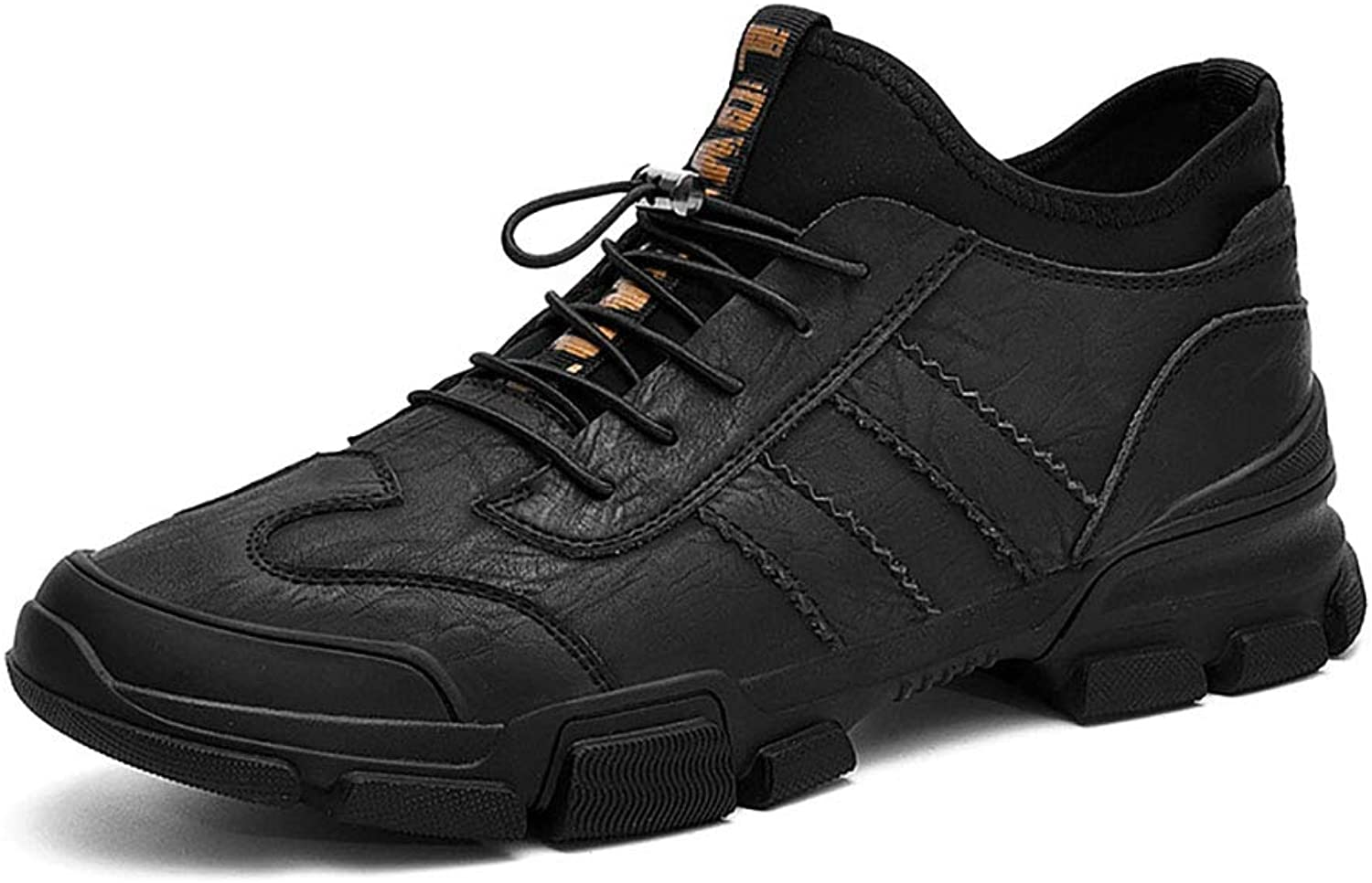 Men's shoes Spring Fall Sneakers Comfort Walking shoes Lace-Up Outdoor Sports Leisure shoes Black, Grey