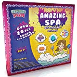 Amazing Spa Kit - Soap Making Kit, Science Activity, Craft & DIY Experiment Set with 30+ Parts - Make Bath Bombs & Soaps with Gift Boxes for Girls, Kids - Perfect Present for Children Aged 6+