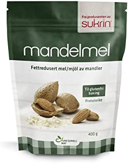 Sukrin Flour - Natural Low Carb Flour Substitute For Healthy Cooking and Baking (Defatted Almond Flour)