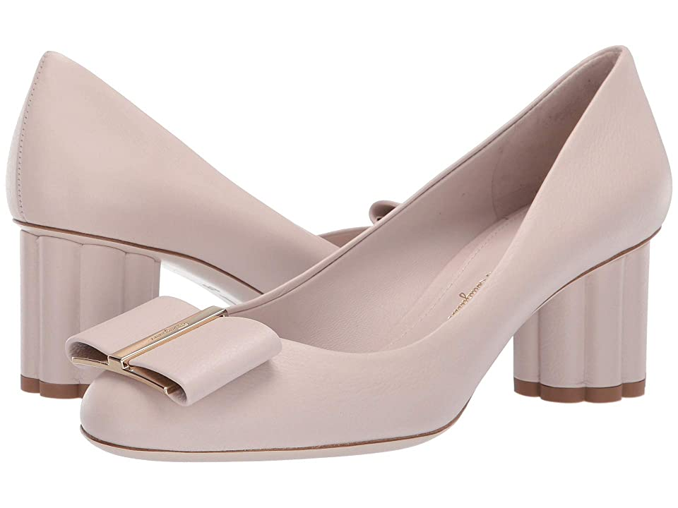 06f4e4f08cf69 Salvatore Ferragamo 55 mm Capua Pump (Jasmine Flower Los Ange) High Heels