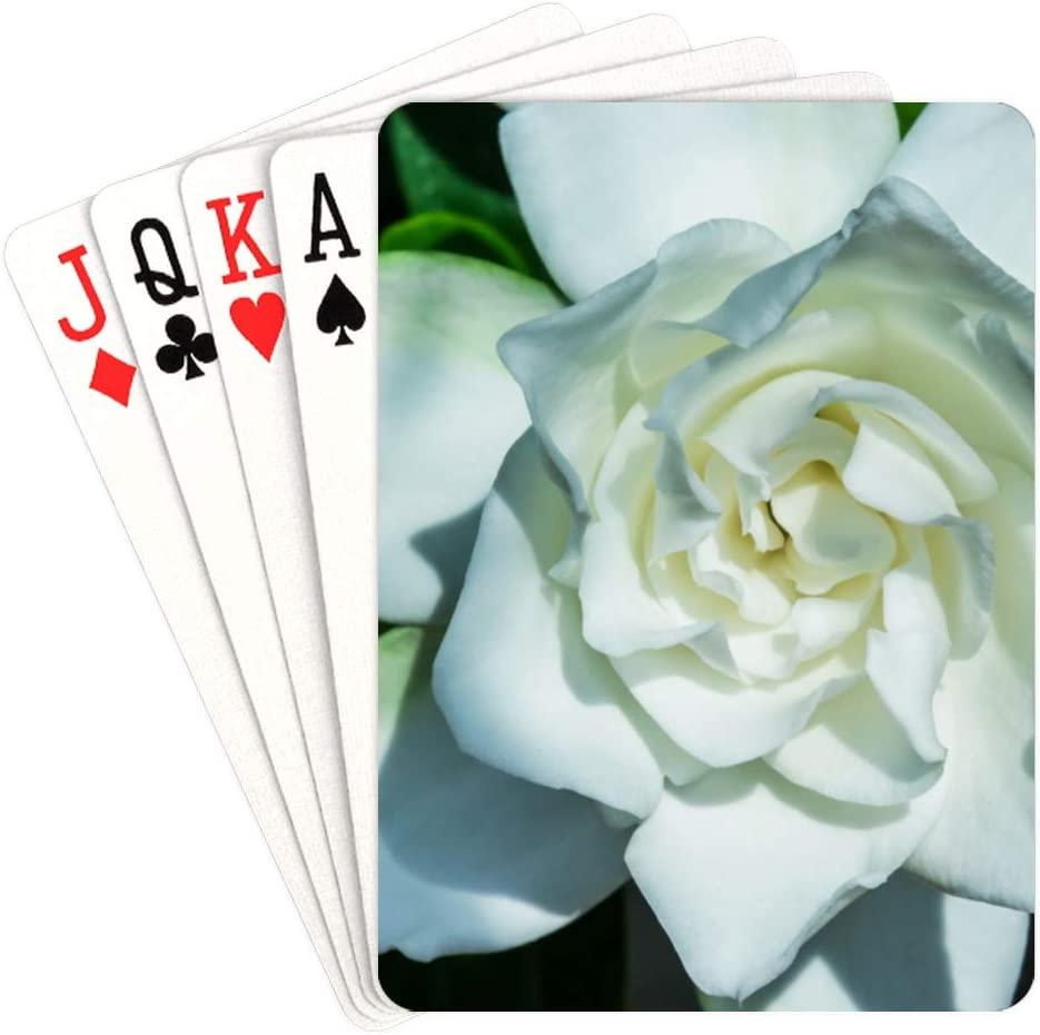 WUTMVING Bargain sale Poker Cards Deck White Beautiful Girl Cheap mail order sales Playing Gardenia