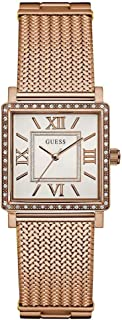 Guess Women's Cream Dial Stainless Steel Band Watch - W0826L3