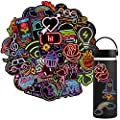 Waterproof Vinyl Stickers Pack for Laptop Water Bottle Party Supplies(50Pcs Neon Style) from QTSM
