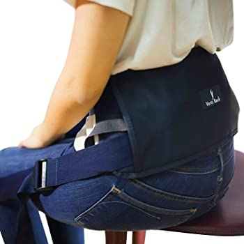 Verti Back - Posture Correcting Lumbar Support for Back Pain with Adjustable Straps, Keeps Back Straight While Seated, Suitable in Office or At Home or Outdoors (Physiotherapist Approved)