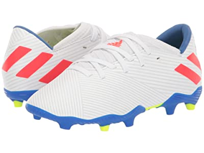 adidas Kids Nemeziz Messi 19.3 FG Soccer (Little Kid/Big Kid) (White/Solar Red/Blue) Kid