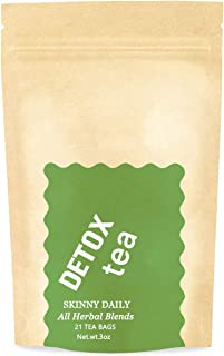 Weight Loss Tea Detox Tea, Reduce Bloating, Belly Fat & Body Cleanse, 21 Day Skinny Daily Herbal Tea for Slimming (100% Na...