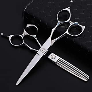 Professional Hairdressing Scissors, Barber Scissors Stainless Steel Micro Serrated Scissors Hair Cutting Scissor 6.0 Inch,...
