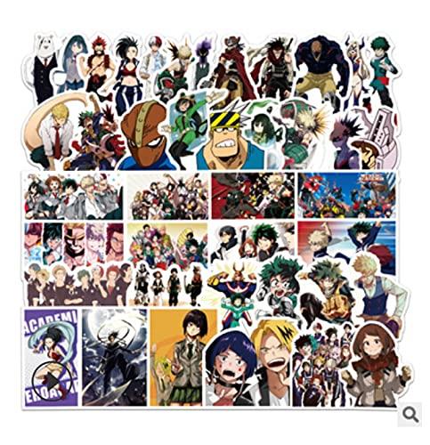 ZJJHX Hero Academy Cartoon Anime Stickers Trolley Maleta Motocicleta Coche Graffiti Stickers 50 Hojas