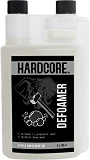 Carpet Shampooer Defoamer by HARDCORE. Great for any carpet cleaner or shampooer! Highly Concentrated for a Deep Clean! Defoam Your Machine. 1 Quart