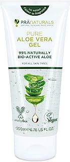 PraNaturals Pure Aloë Vera Gel 200ml - Verzachtend en hydraterend, Rijk aan vitamines, insectenbeten en kleine brandwonde...