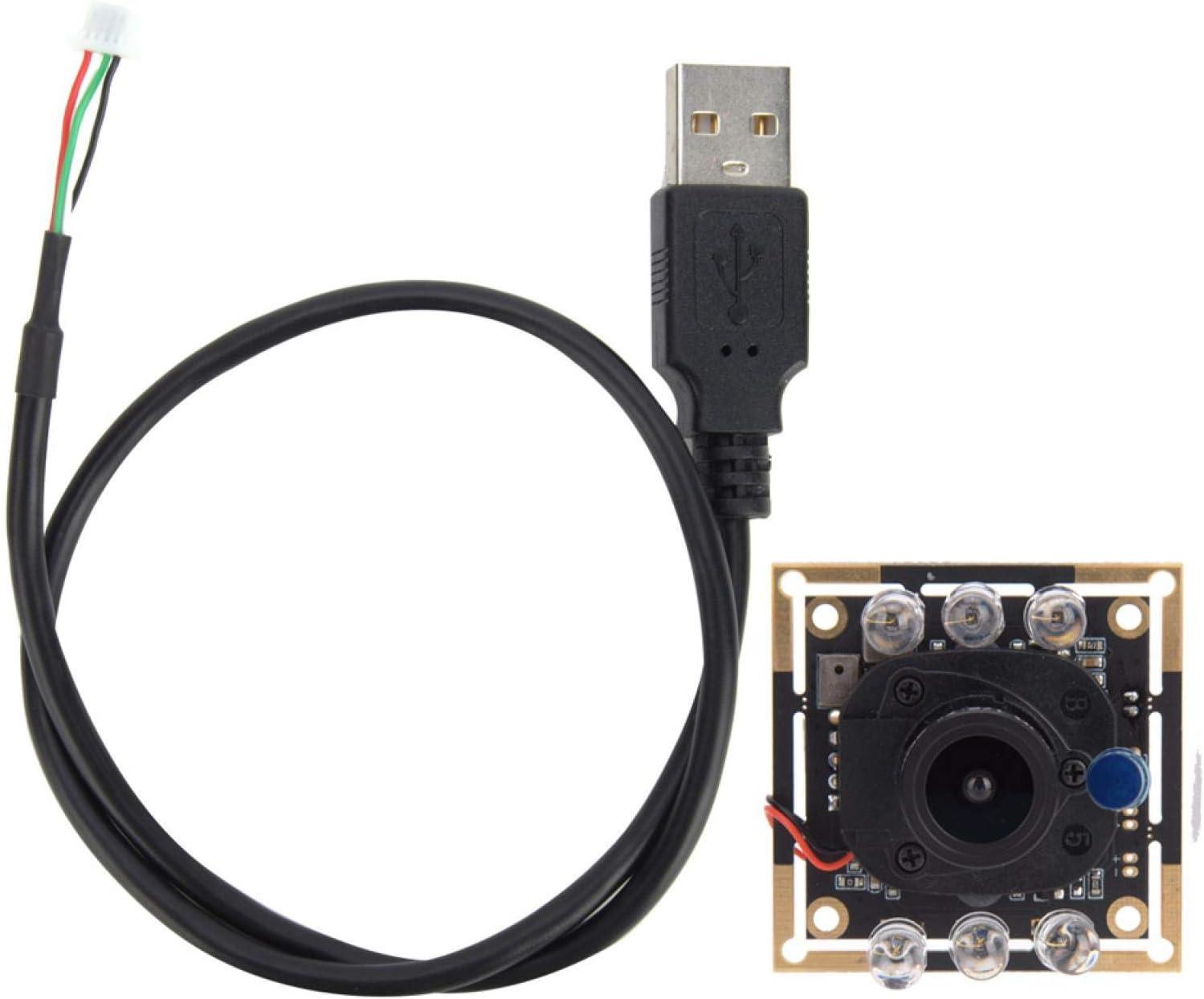 BWLZSP Módulo de cámara de 1 Pieza, módulo de cámara con Cable USB HD Ov2710 Chip IR-Cut Conmutación automática 1920x1080 30 fps 94 ° para Equipos mecánicos, máquinas expendedoras, etc.