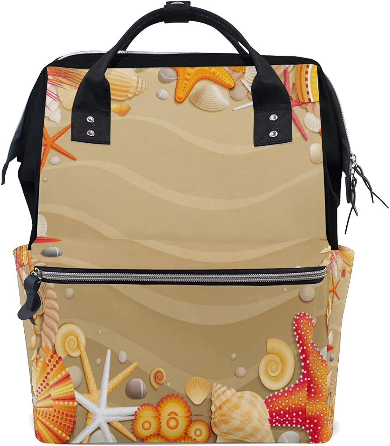 2b7285373b71 Tropical Beach Sand Starfishes Doctor Bag Style College Backpack ...