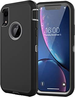 Diverbox Compatible with iPhone Xr Case, [Shockproof] [Dropproof] [Dust-Proof],Heavy Duty Protection Phone Case Cover for Apple iPhone Xr (Black & Gray)