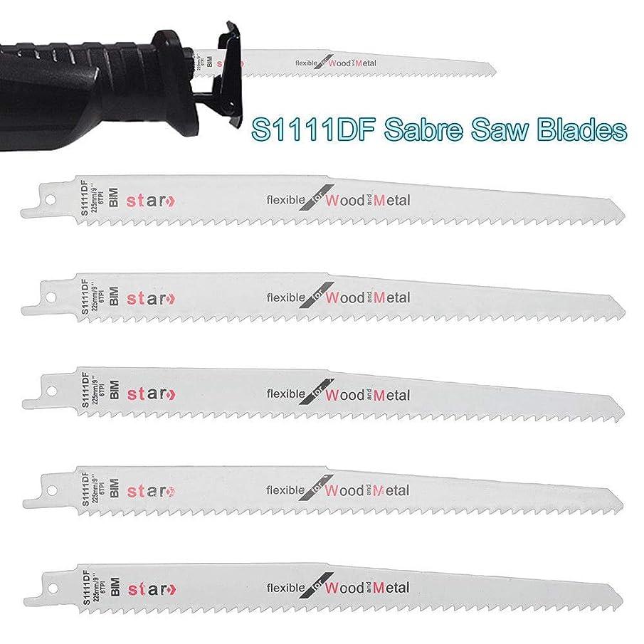 Reciprocating Saws Blades MASO Sabre Saw Combo Wood Metal & Demolition Blades fits Bosch, Dewalt, Makita,S1111DF 225mm Long High Carbon Steel HCS 5 PCS Pack