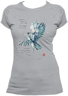 Beatles David Mack Blackbird Official Women's T-Shirt (Heather Grey)