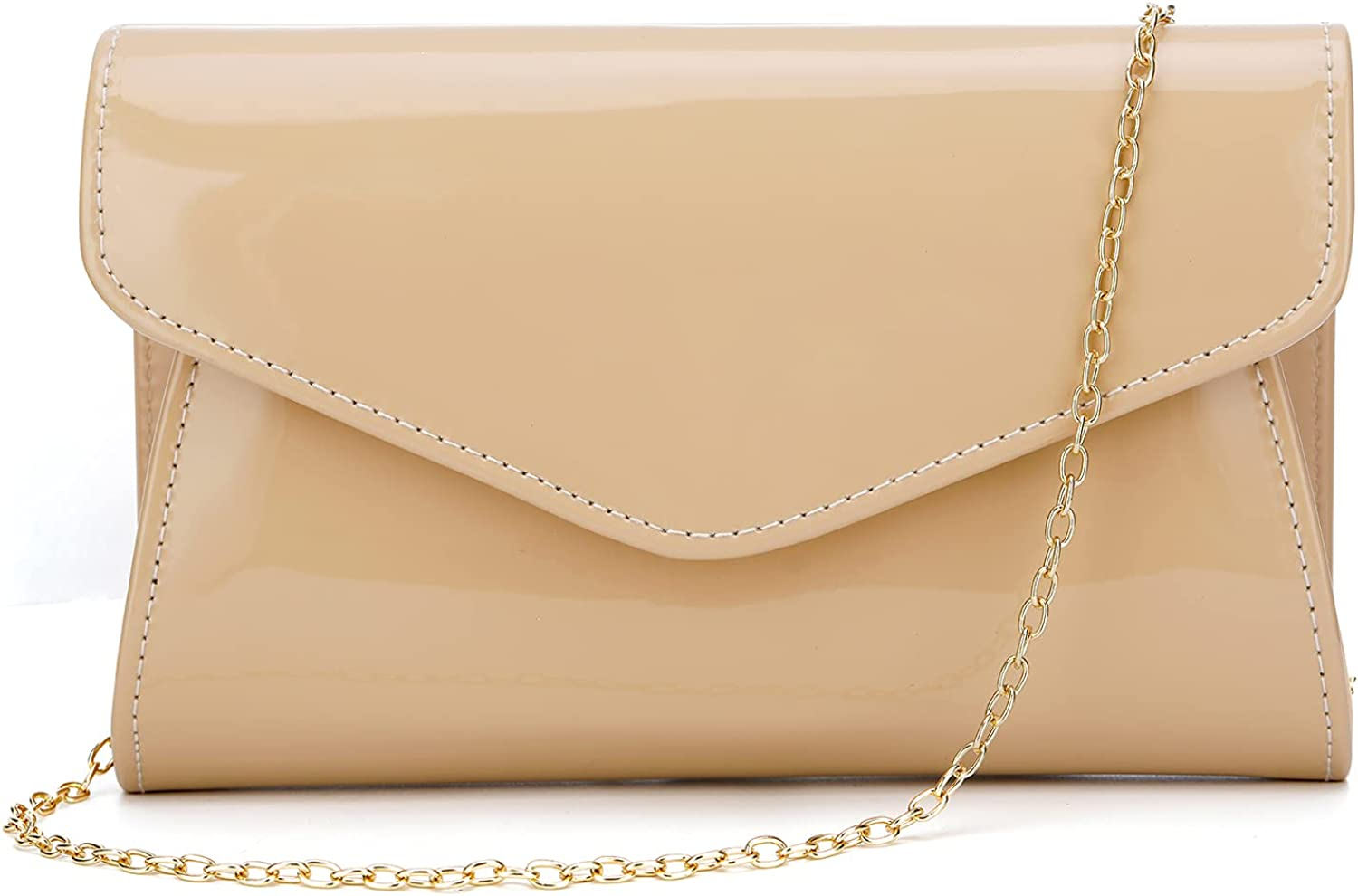 ZIUMUDY Patent Inventory cleanup selling sale Leather Evening Bags Shoulder Envelope Clutches Cheap mail order sales C