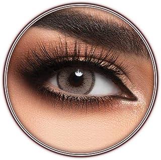 Lensme Caffe Contact Lenses, Original Unisex Lensme Cosmetic Contact Lenses, Six Months Disposable, Caffe (Light Brown Color)