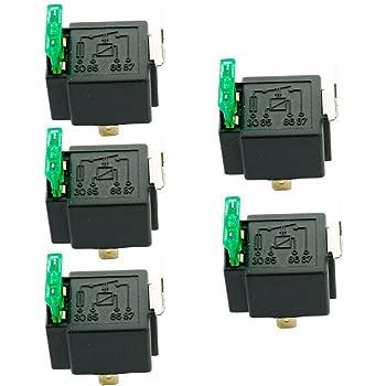 Mintice/™ 5 X autoveicolo auto Presa di corrente rel/è 12V 40A SPST pesanti 4 pin a 4 fili kit impermeabile