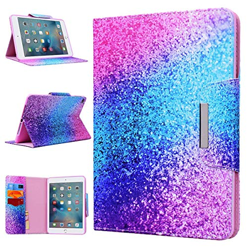 iPad Air 2 Case WE LOVE CASE Leather Cover iPad Air 2 Case Cute Pretty Case Pattern Stand Folio Foldable Protective Shockproof Bumper Official Anti Shock Scratch iPad Air 2 Case Rainbow