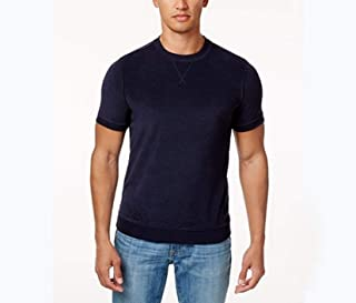 Tommy Hilfiger Men Short-Sleeve Navy Sweatshirt