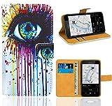 Nokia Lumia 530 Handy Tasche, FoneExpert Wallet Hülle Flip Cover Hüllen Etui Ledertasche Lederhülle Premium Schutzhülle für Nokia Lumia 530