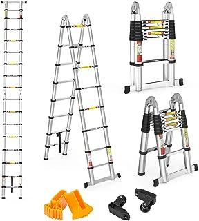 12.1FT, Multi-prop/ósito Extensible, Buena Calidad, Mayor Seguridad, Aluminio Finether-3.7M Escalera Plegable Sin panel