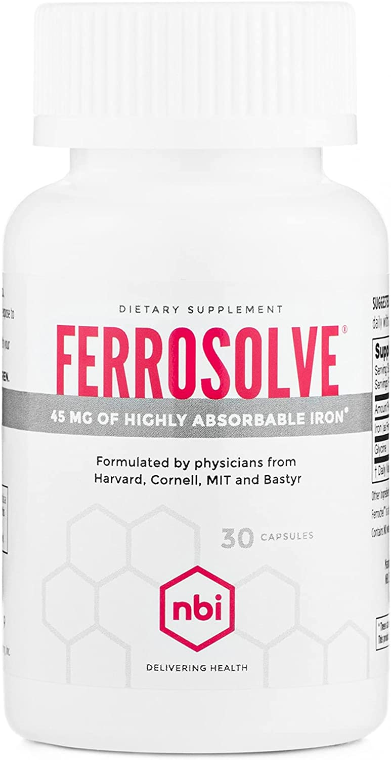 New Orleans Mall NBI FerroSolve Iron Supplement 45mg Highly Cheap mail order sales Absorbable Chelate